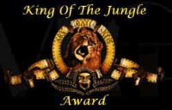 King Of The Jungle Award for outstanding excellence in web page design